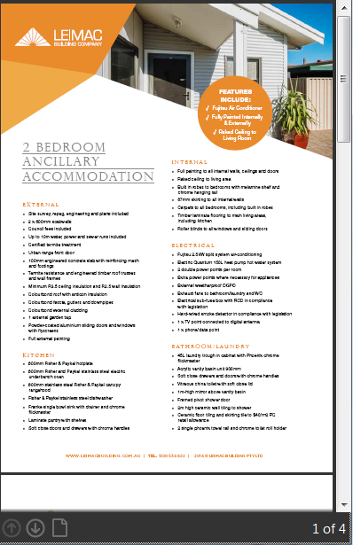 ancillary accommodation flyer download
